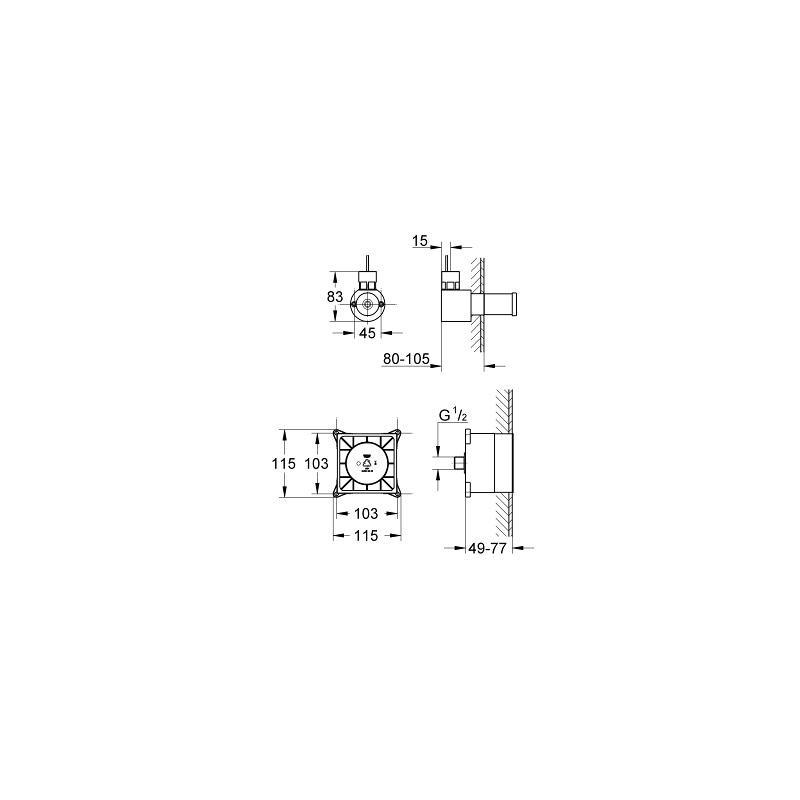 Extractor De Vapor Baño: empotrado > GENERADOR DE VAPOR BAÑO 22kW GROHE F-DIGITAL DELUXE