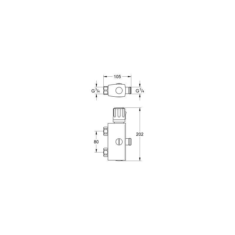 Grifo termostatico colectivo 1 2 automatic 2000 compact grohe - Grifo termostatico grohe ...