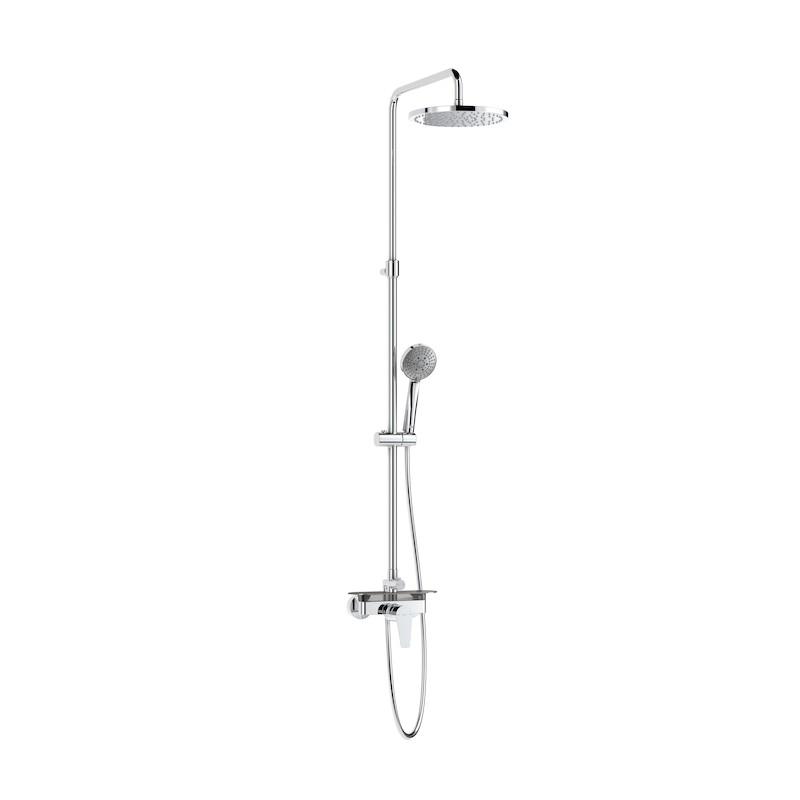 Columna de ducha monomando con repisa even m roca for Monomando para ducha