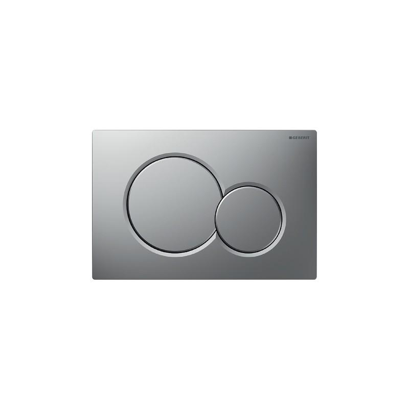 pulsador inodoro doble descarga sigma01 cromado mate geberit