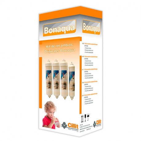 KIT 4 FILTROS ORIGINALES BONAQUA BASIC
