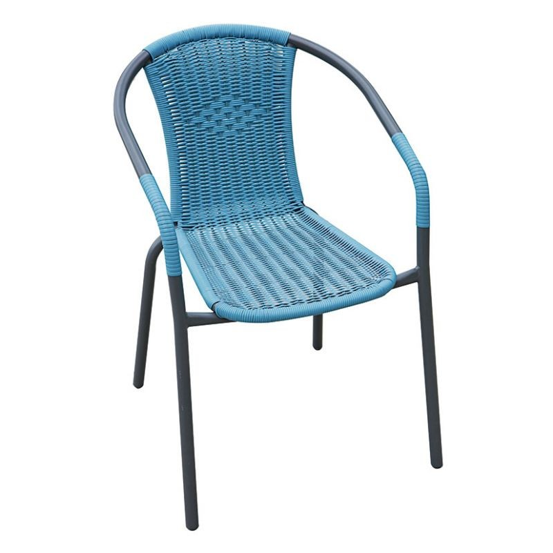 Silla apilable terraza basic azul for Homy sillas terraza