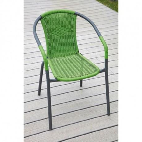 Silla apilable terraza basic verde for Homy sillas terraza