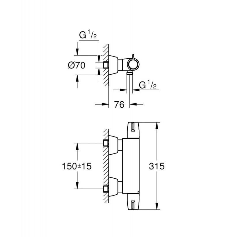 Grifo termostatico ducha grohtherm special grohe 34667000 - Grifo termostatico ducha precios ...