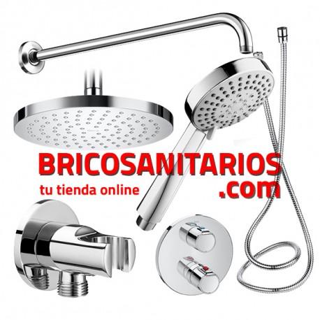 Pack empotrado ducha basic termostato roca a5d0618c00 for Termostato para ducha
