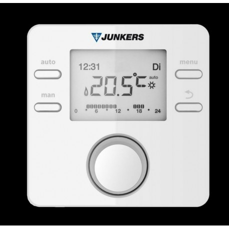 CRONOTERMOSTATO MODULANTE JUNKERS SIN CABLES CR 100 RF SIN RECEPTOR