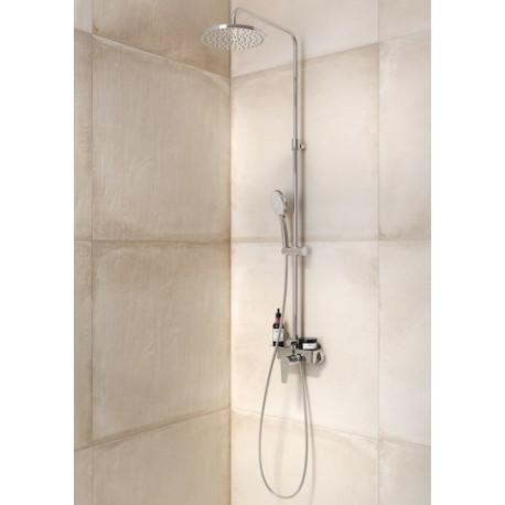 Columna de ducha monomando con repisa even m roundroca for Monomando para ducha