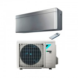 AIRE ACONDICIONADO DAIKIN R32 STYLISH PLATA TXA35AS 1x1 2.920 FRIG/H 3.440 KCAL/H