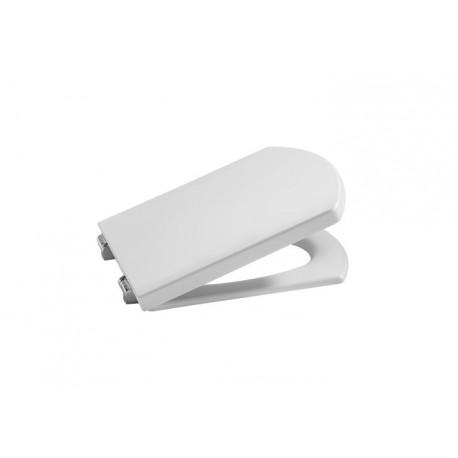 Asiento y tapa inodoro wc compacto Roca Hall blanco a8016204