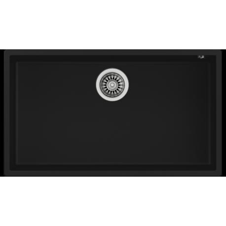 Fregadero negro granito una cubeta teka 115230015