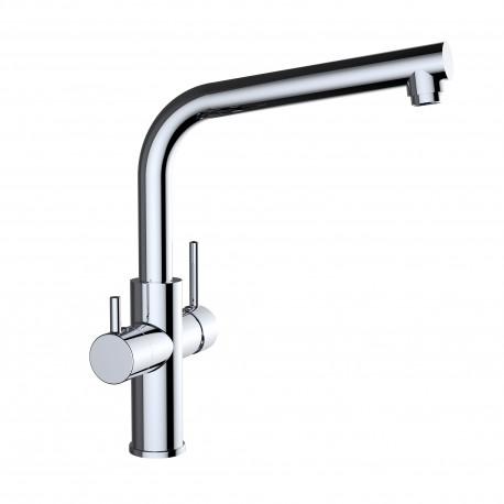 GRIFO OSMOSIS COCINA CROMADO WATER QUALITY CLEVER 61102 3 VIAS