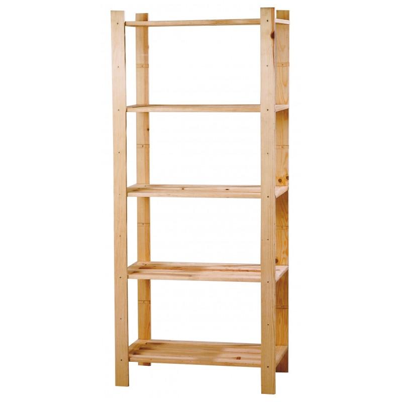 Estanteria madera pino macizo 5 baldas - Hacer estanteria casera ...