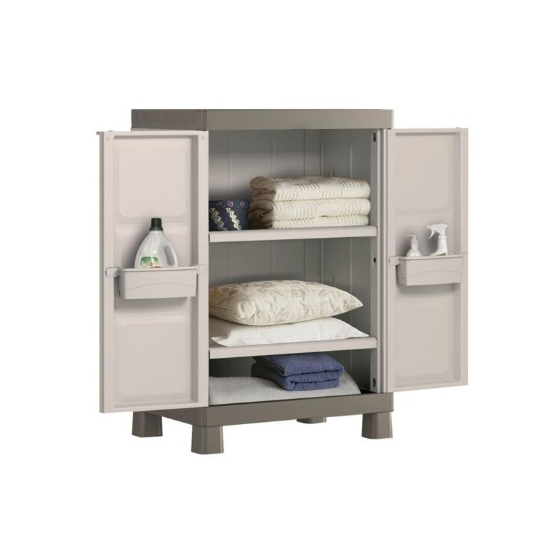 Armario de resina para exterior dos estantes - Mueble de resina para exterior ...
