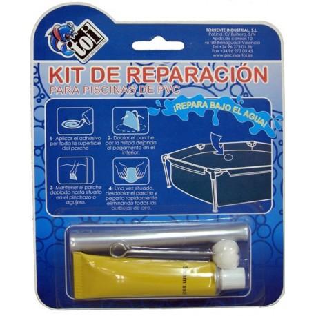 KIT REPARACION PISCINAS PVC TOI