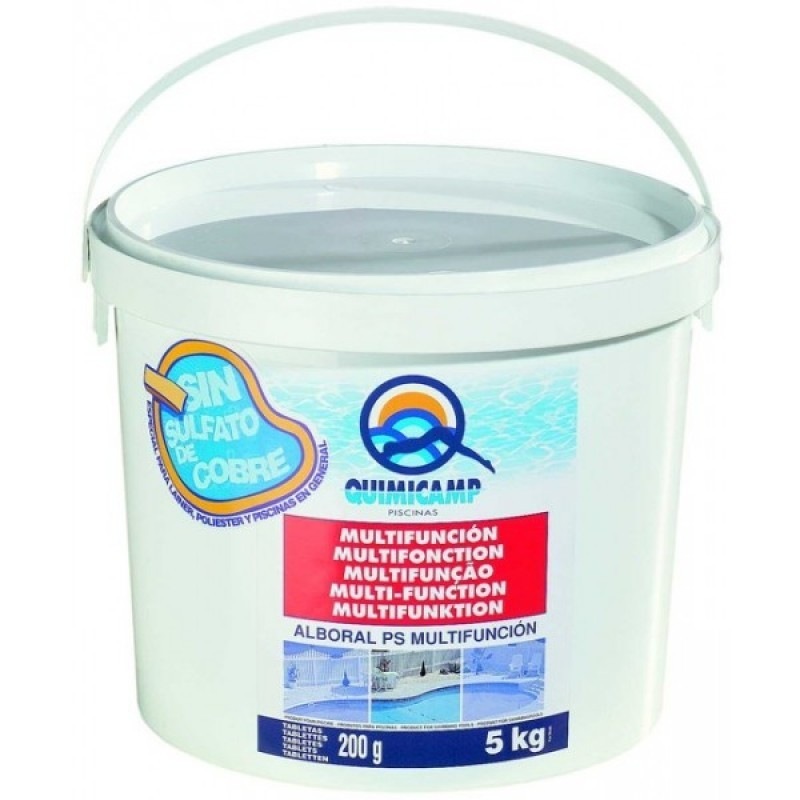 Cloro multifuncion alboral 5kg quimicamp for Quimicamp piscinas
