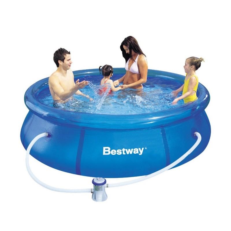 Piscina bestway 244x76 cm con depuradora for Depuradora piscina carrefour