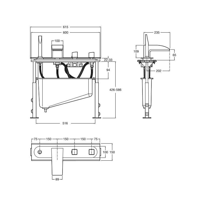 kit completo instalacion griferia termostatica repisa ba o