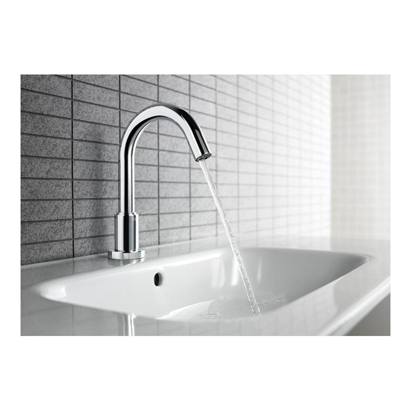 Grifo electronico lavabo loft e roca un agua for Grifo lavabo roca