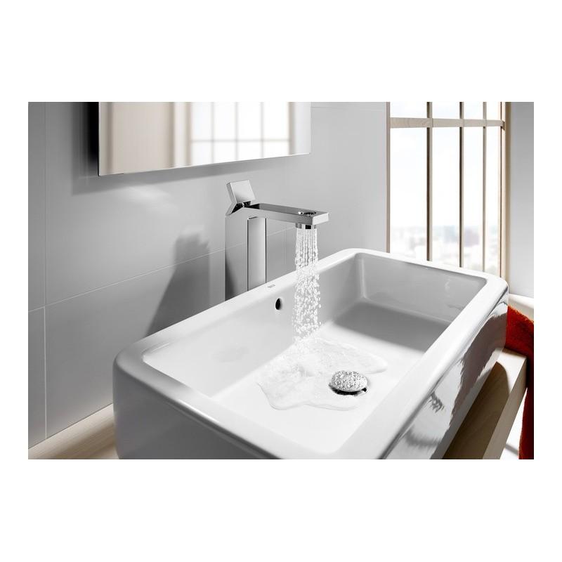 Grifo lavabo ca o alto singles open roca for Grifo alto lavabo