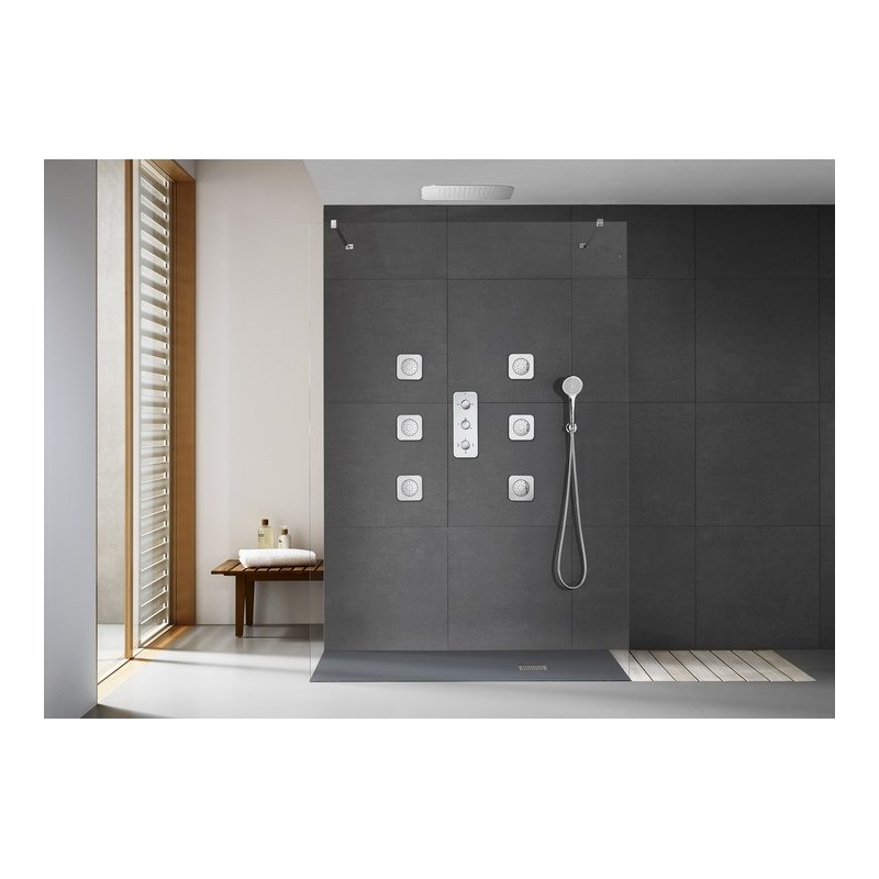 Grifo termostatico empotrado ducha puzzle 3 vias roca - Grifo termostatico ducha ...