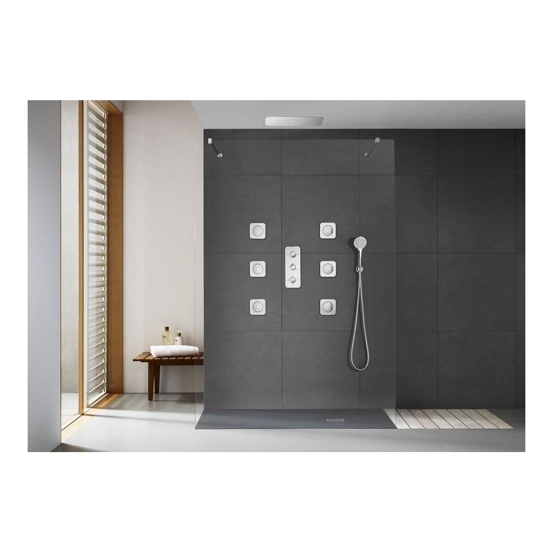 Grifo termostatico empotrado ducha puzzle 3 vias roca for Griferia ducha homecenter