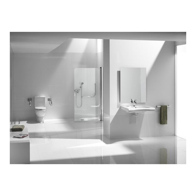 Lavabo movilidad reducida meridian roca 700x570 for Precios de lavabos roca