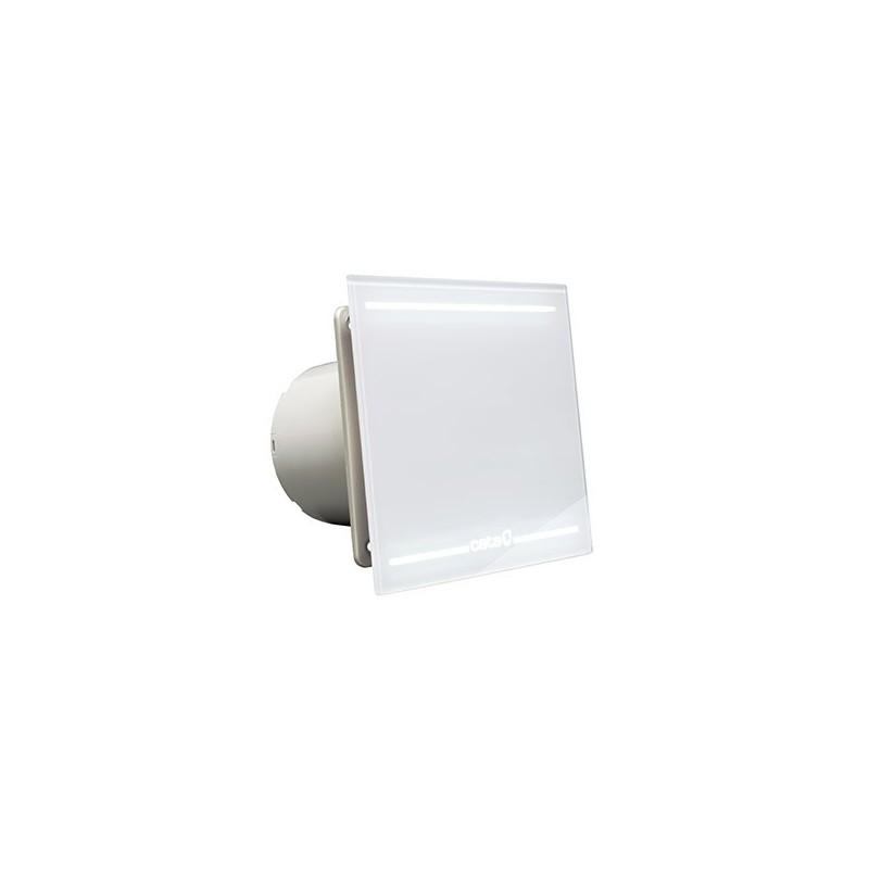 Extractor ba o cata glass light e100 glt silencioso blanco - Extractor bano silencioso ...