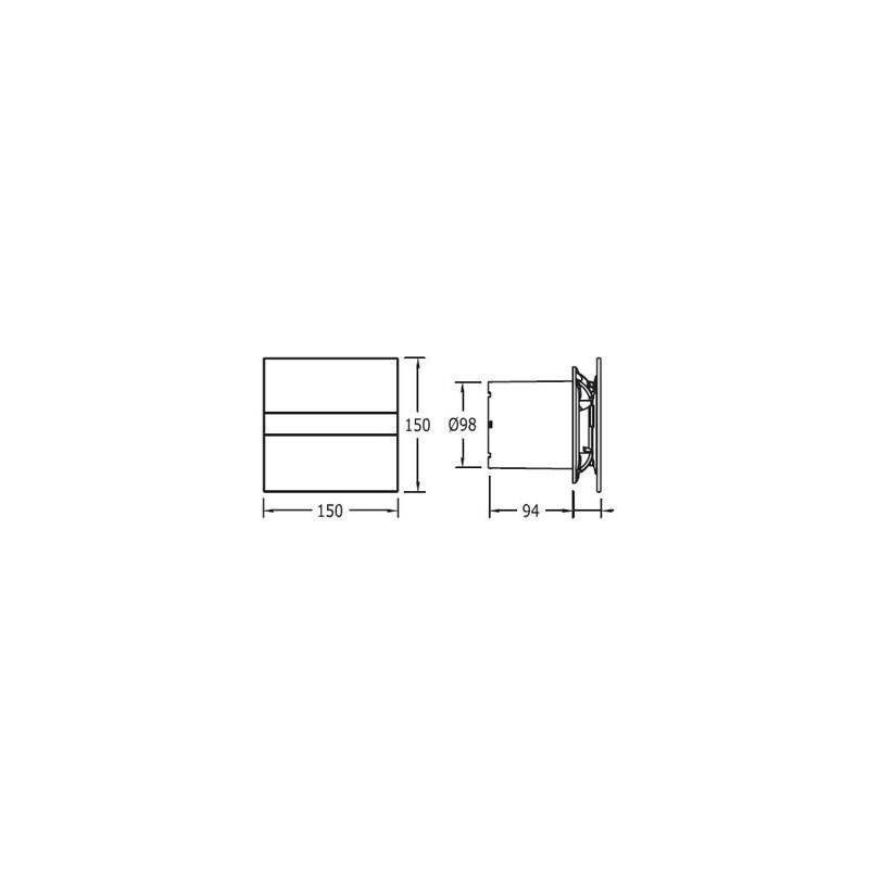 Extractor Baño Cata | Bano Cata Glass E100g
