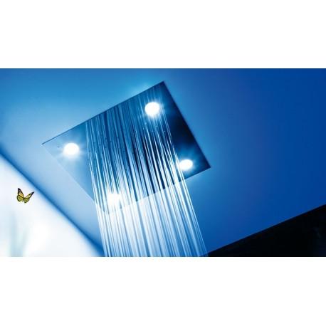 Rociador ducha techo cromoterapia con luz inox tres for Duchas de techo precio