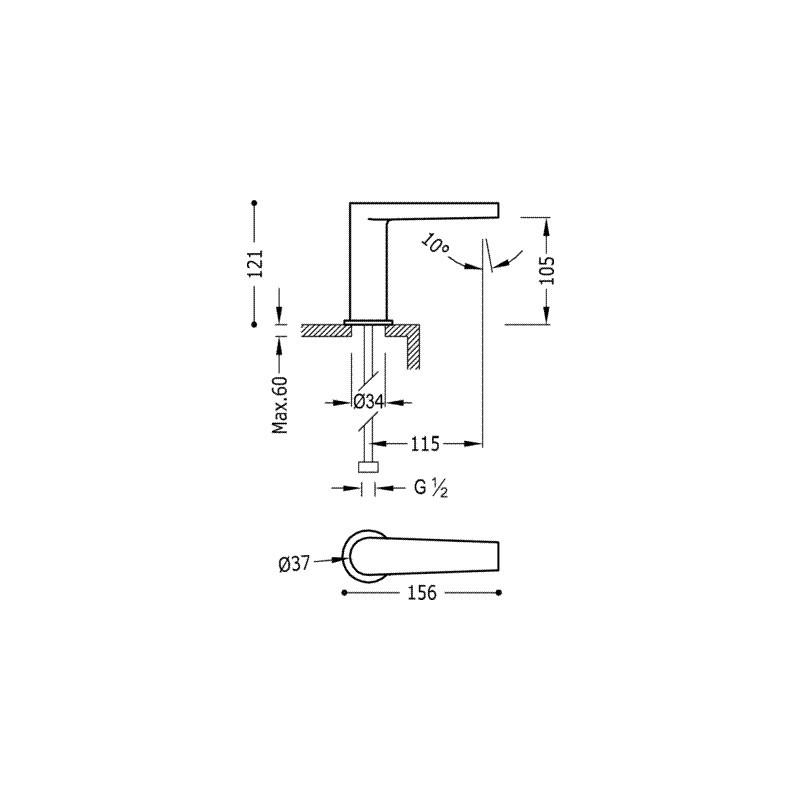 Grifo lavabo electronico tres 20560302 mezclador - Grifo lavabo tres ...
