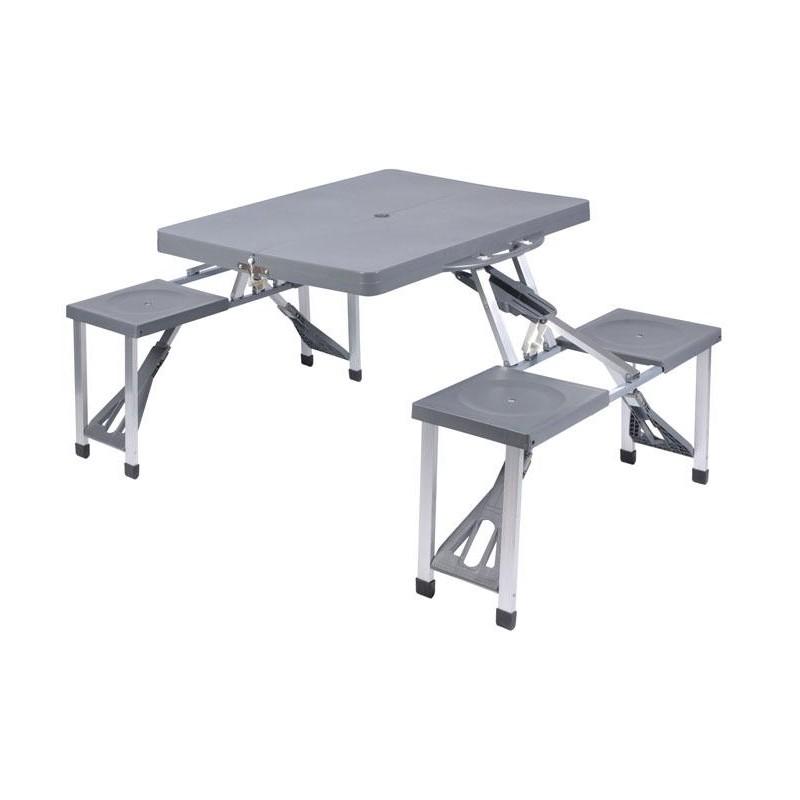 Mesa picnic con bancos integrados - Mesa con bancos ...
