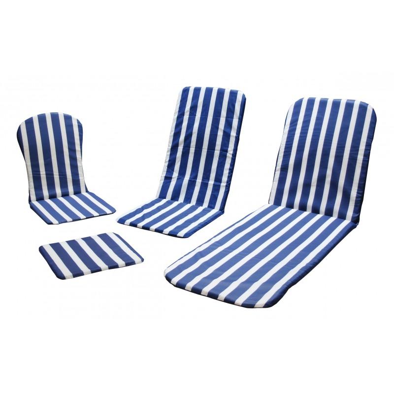 Juego cuatro cojines silla jardin serie 100 for Cojines para sillas de jardin