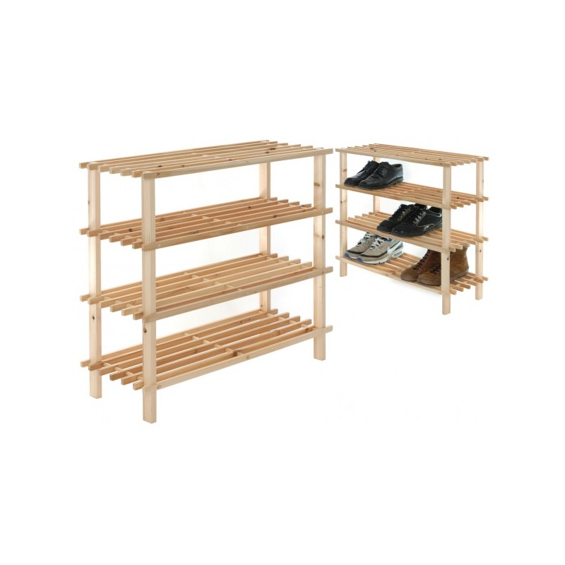 Zapatero estanteria de madera for Zapateros en madera bogota