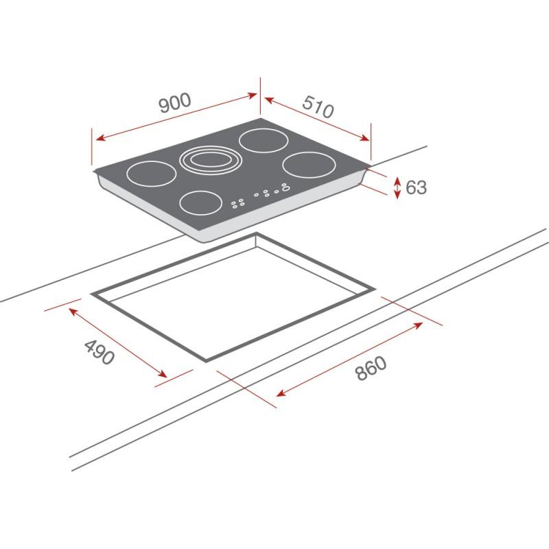 Vitroceramica teka modelo tr 951 - Medidas de encimeras de cocina ...