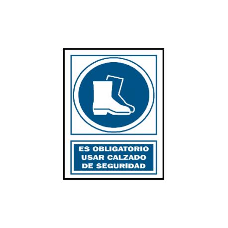 señal obligacion pvc usar calzado seguridad bricosanitarios