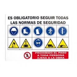 SEÑAL COMBINADA DE OBRAS PVC