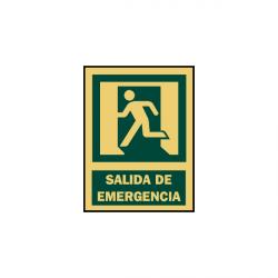 SEÑAL SEGURIDAD Y SALVAMENTO SALIDA EMERGENCIA SERIGRAFIA MATARO