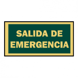señal evacuacion salida emergencia luminiscente