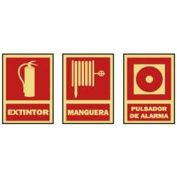 señal contra incendios extintor manguera pulsador alamar bricosanitarios