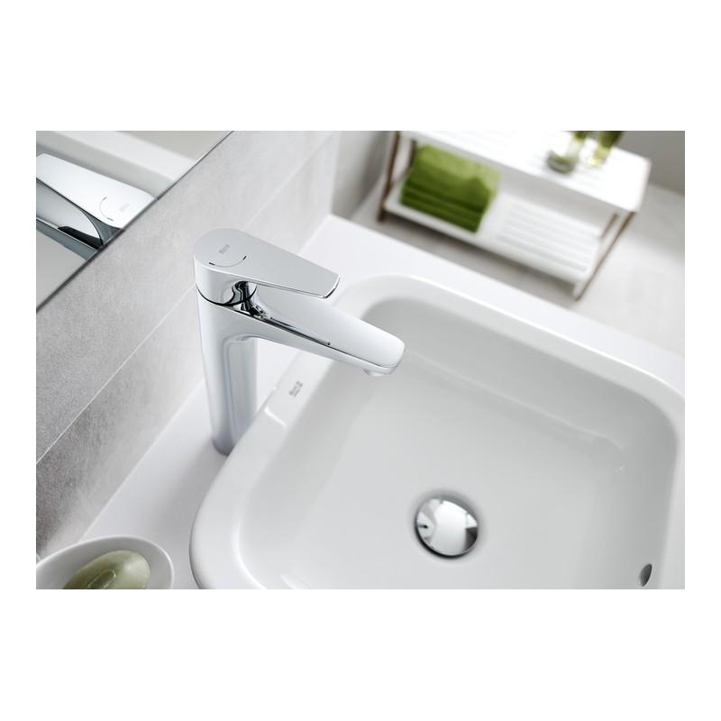 Grifo monomando lavabo ca o alto atlas roca cuerpo liso for Grifo alto lavabo