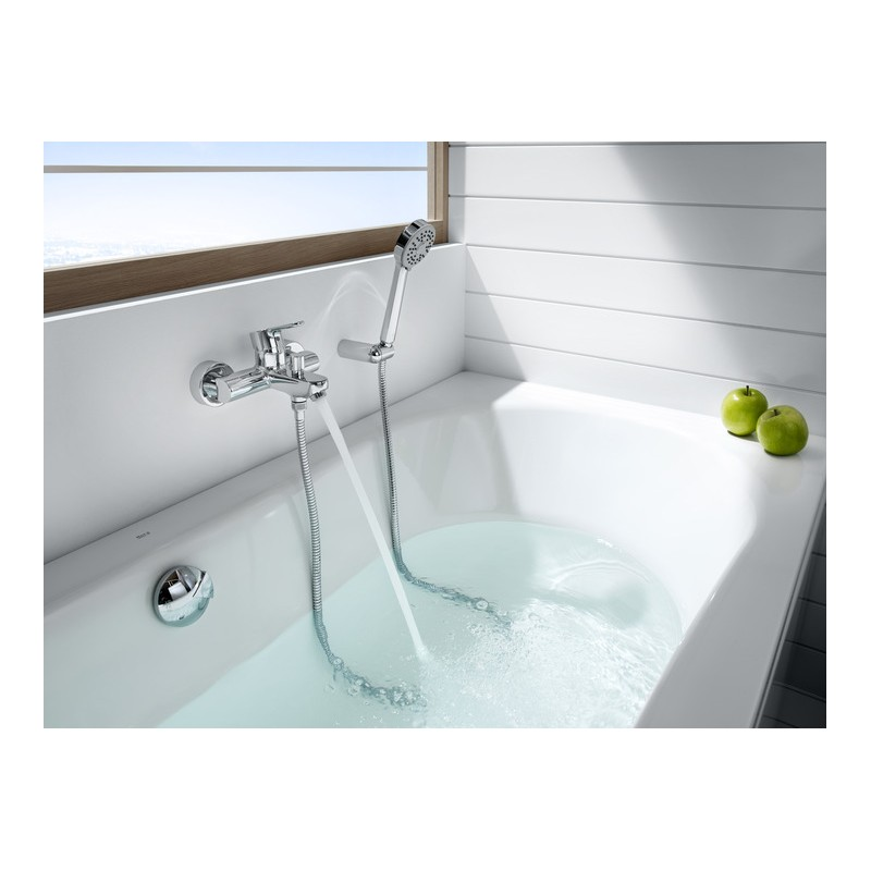 Grifo ba o ducha monomando roca l20 cromado for Griferia ducha homecenter