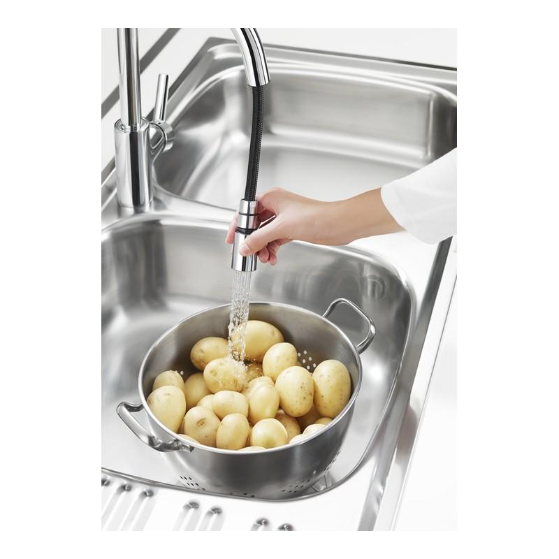 Grifo monomando cocina roca targa cromado extraible for Grifo cocina