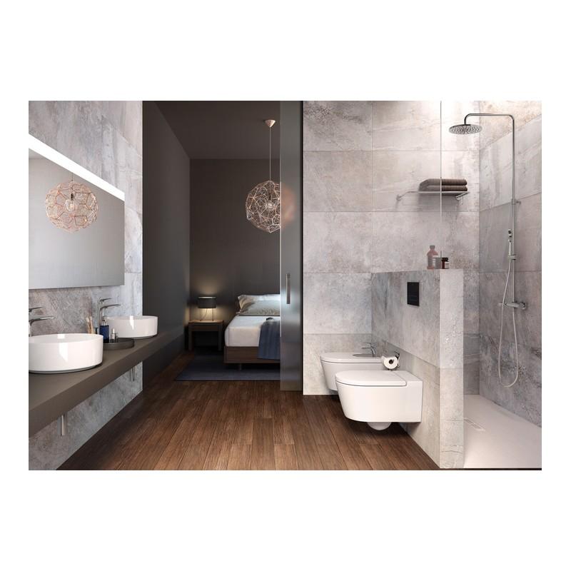 Inodoro suspendido completo inspira round roca - Altura de lavabo suspendido ...