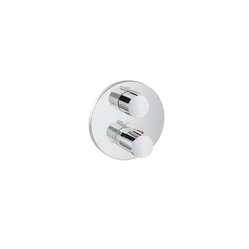 Grifo termostatico empotrable ba o ducha t1000 round roca - Grifo termostatico ducha precios ...