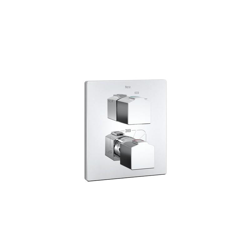 Grifo termostatico empotrable bano o ducha l90 roca for Grifo termostatico ducha roca