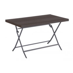MESA JARDIN PLEGABLE MARRON