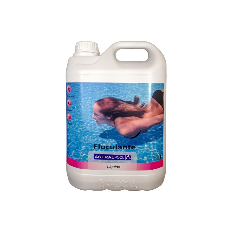 Flocurante liquido astral 5 litros astralpool for Liquido sellador para piscinas